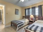 The third bedroom features 2 twin-sized beds.