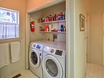 Keep your laundry fresh in the washer and dryer.