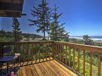 Make your Oregon getaway one to remember in this beautiful 2-bedroom, 2-bathroom vacation rental house with ocean views.