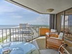 Enjoy  sweeping ocean views on one of the home's 2 private decks.