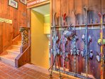 Hang up your skis after a day on the slopes in this mudroom area.