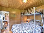The third bedroom features a comfortable twin-over-queen bunk bed.