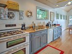 There is ample counter space to prepare a fresh meal or snack for your group.