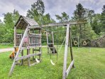 Kids will love the playing on the swing set.