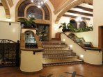 Coral Baja's main lobby is bright and elegant.