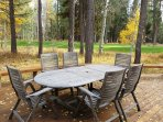 Watch the wildlife and golfers from this spacious deck