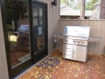 This large BBQ is conveniently off the kitchen.