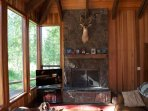 Views galore from the living area plus a large wood burning fire