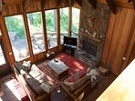 Great room looking onto the deck