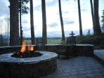 You will love evenings by the firepit with the mountains in the