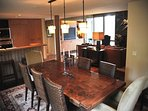 Large dining area off the kitchen
