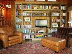 This home has an extensive library of DVD's.