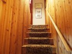 Stairway to master suite.