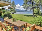 Spend your days or evenings admiring Lake Pend Oreille from the private patio.