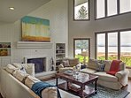 Floor-to-ceiling windows in the main living space provide spectacular views.