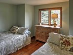 If you're traveling with kids, they'll love sharing this room with 2 double beds.