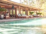 Main Villa - shared living areas and pool