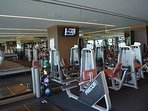 The gym at Palms Place is a great way to stay fit while on vacation.