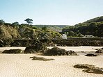 Lee bay beach, ideal for rock pooling and also dog friendly.