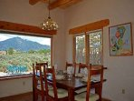 Dining area comes equipped with sweeping mountain views 365 days a year Dining area comes equipped with sweeping...