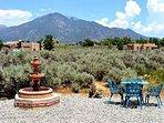 Panoramic Taos Mountain view