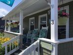 Relax in one of the rocking chairs on the great front porch while taking in the fresh sea breezes!