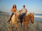 We highly recommend a horseback ride on the beach.