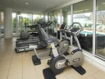 The Falls has a gym with both machines and weights, available for you to use year-round!