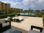 Ground floor units have pool and ocean view through property landscaping!