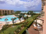 Your amazing pool and ocean view from the balcony!