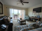 Living room with Sierra queen-size sleeper (Tempur-pedic mattress)