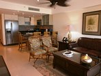 Beautiful furnished (Tommy Bahama) living with queen-size sofa bed