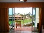 Easy access to balcony in master bedroom
