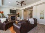 Living Room - (1) Queen Air Mattress Available