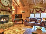 Curl up on the comfy couches next to the gas fireplace in the living area.