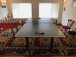 Family games room. Ping pong, table football, hoops game and giant scrabble.
