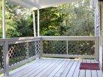 Peaceful deck with views of yard