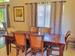 Enjoy family meals at the formal dining table.