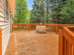 Admire gorgeous, forested views from the large private deck.