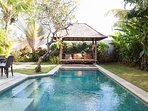 Balinese daybed by the pool