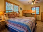 Upper Level Master Bedroom Suite (3rd) with Additional Bunk Bed
