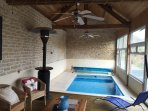 private indoor plunge/pool and leisure room
