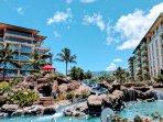 The Honua Kai pool slide