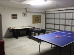 The Games Room,With Table Tennis,Air-Hockey,Foosball and Darts.