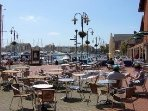 The marina is a great place to eat, drink and watch the yachts sail by