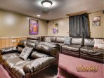 Theater Room in Diamond in the Rough - great for groups in Pigeon Forge!