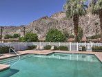 This 3-bedroom, 3.5-bathroom vacation rental condo in La Quinta is located on a championship golf course and is only...