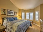 Two guests will sleep comfortably in the king-sized bed in the second bedroom.