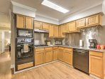 Whip up your favorite recipes in the fully equipped kitchen, which features new appliances and stainless steel...