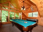 Game Room and Loads of Fun for the Family!  Play Foosball or Pool - Balcony Access for taking in the Fresh Mountain Air...
